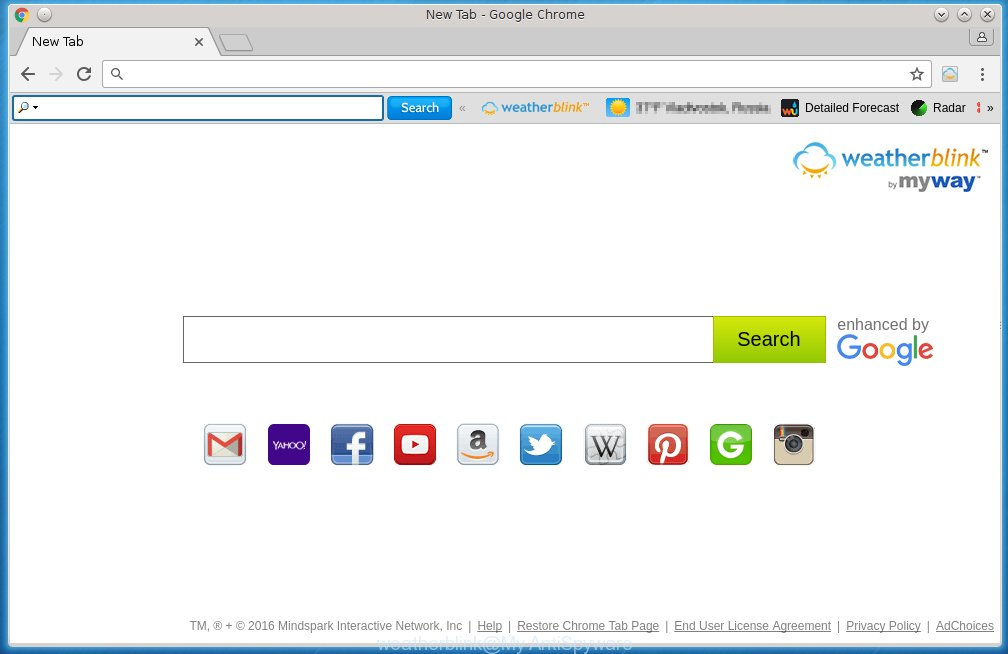 'WeatherBlink toolbar' homepage