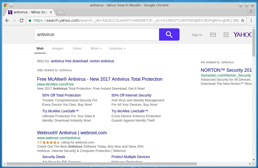 Yahoo search bar