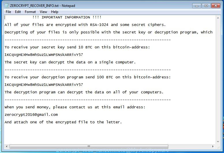 zerocrypt virus ransomnote