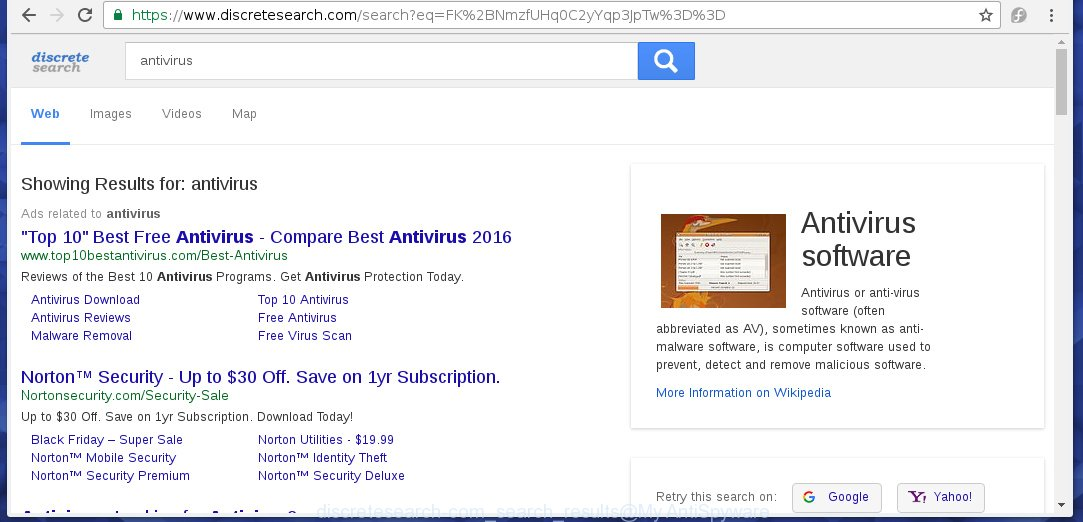"""Discretesearch"" search results contains a lot of ads"