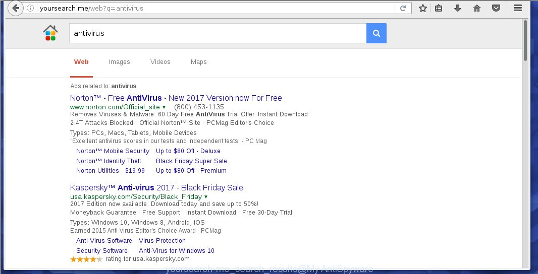 Yoursearch search results contains a lot of ads