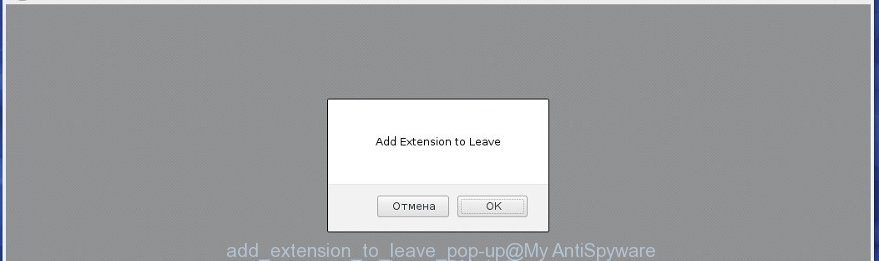 """Add Extension to Leave"" pop-up offers to add unknown malicious extension to Chrome"