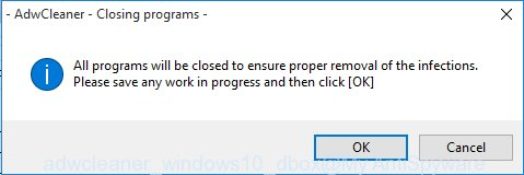 adwcleaner Microsoft Windows10 prompt