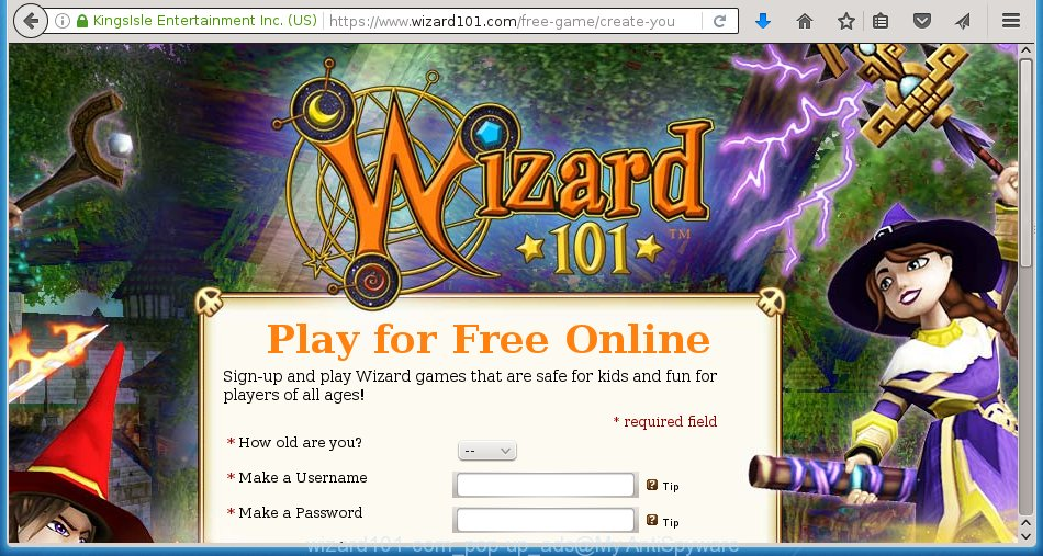 wizard101-com pop-up ads