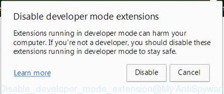 Disable developer mode extension