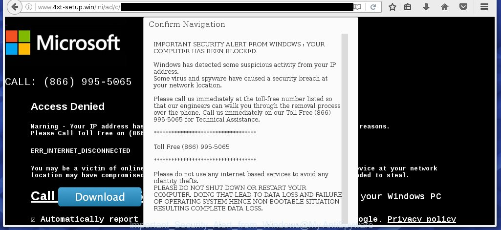 Important Security Alert from Windows