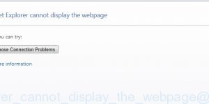 Internet Explorer cannot display the webpage