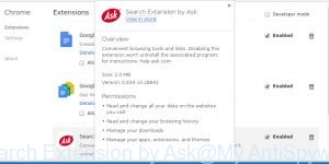 Search Extension by Ask