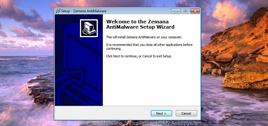 Zemana antimalware SetupWizard