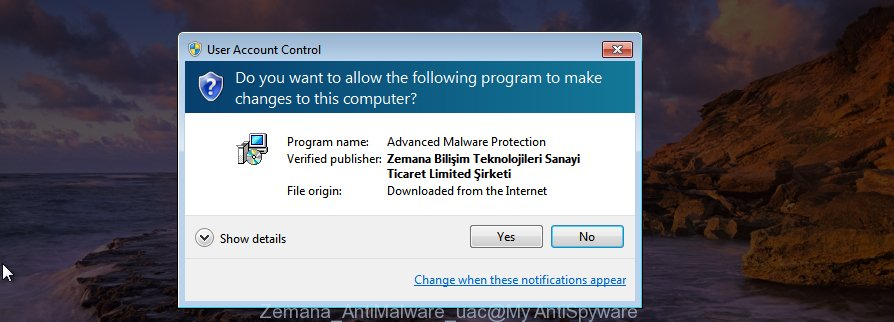 Zemana AntiMalware uac