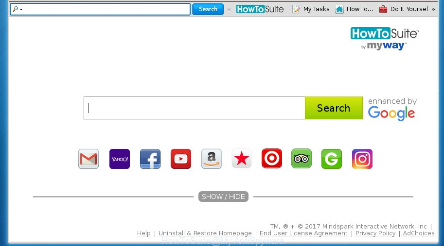 HowToSuite toolbar – How to remove (Chrome, Firefox, IE, Edge)