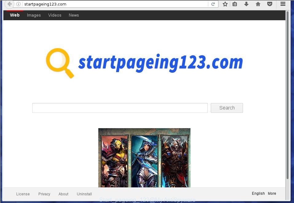 Start pageing 123 virus