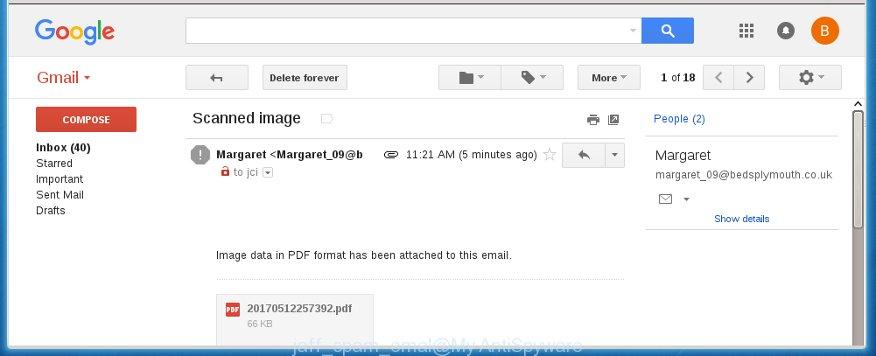 jaff spam emal