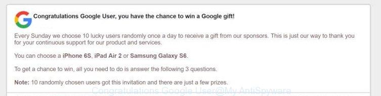 Congratulations Google User