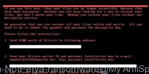 Petya.A / NotPetya ransomware