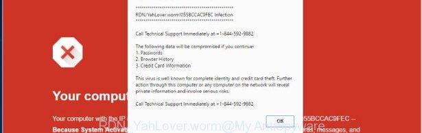 RDN_YahLover.worm fake alert