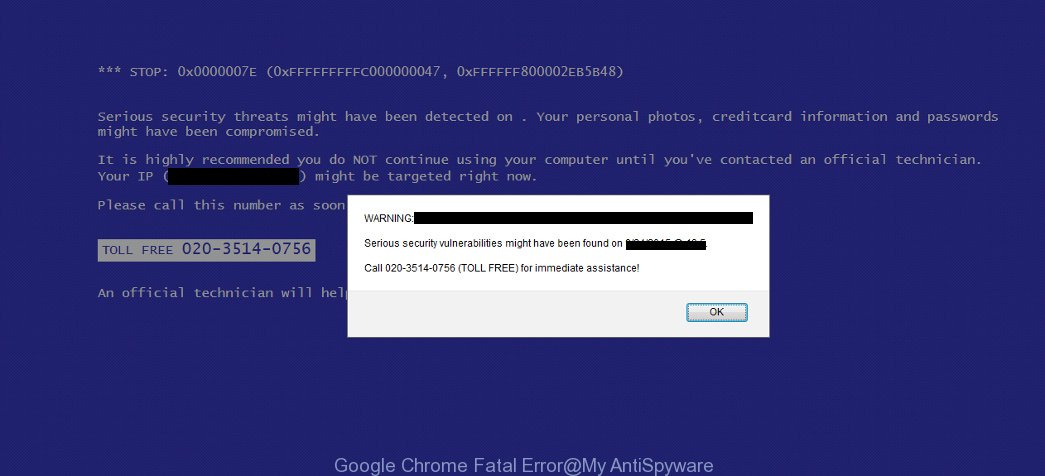Google Chrome Fatal Error