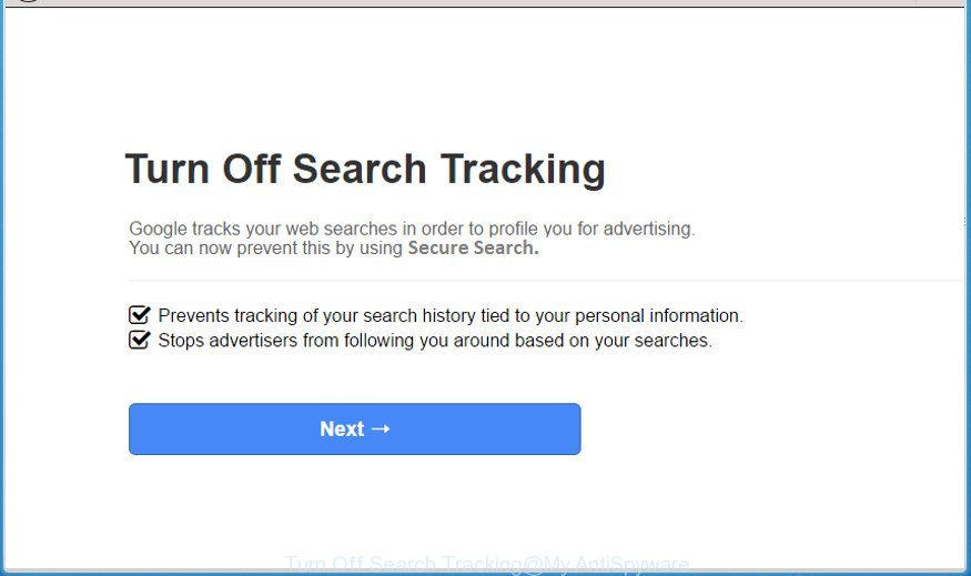 Turn Off Search Tracking