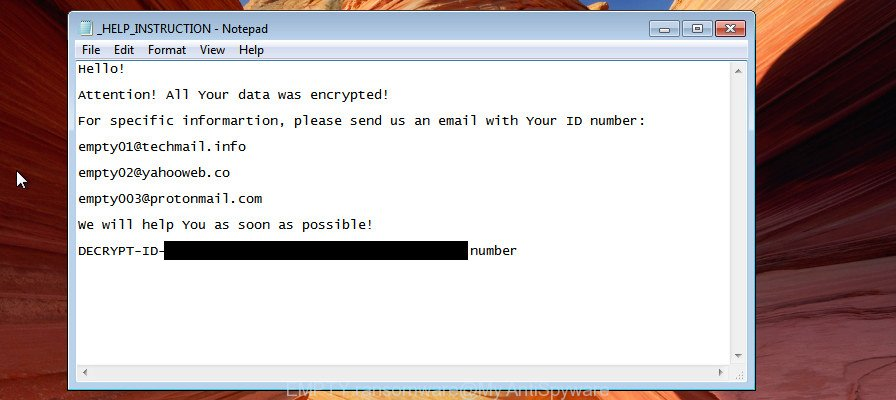 EMPTY ransomware