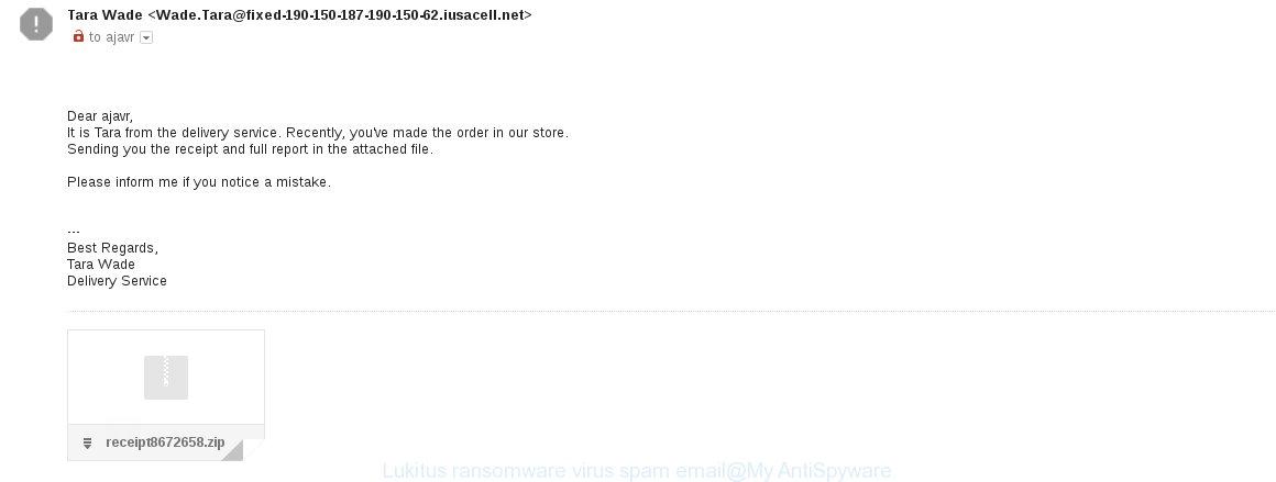Lukitus ransomware virus spam email