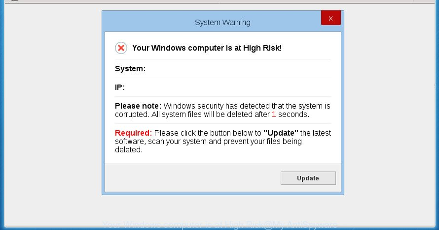Your Windows computer is at High Risk