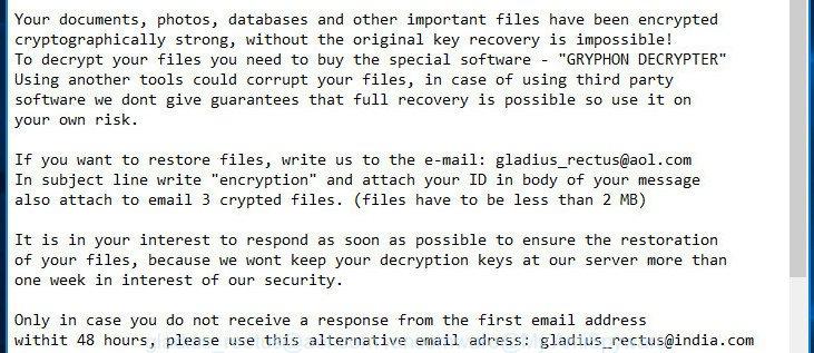 gladius_rectus@aol.com ransomware