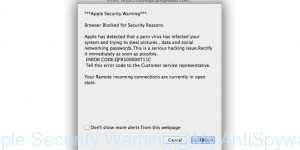 Apple Security Warning