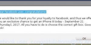 Dear Facebook user, congratulations