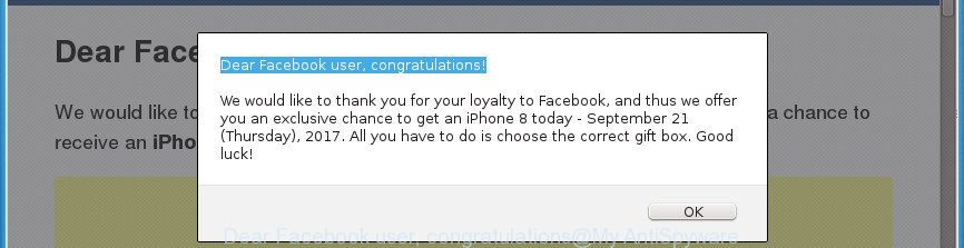 Dear Facebook user, congratulations