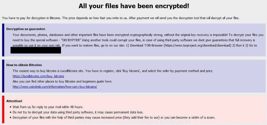GlobeImposter ransomware