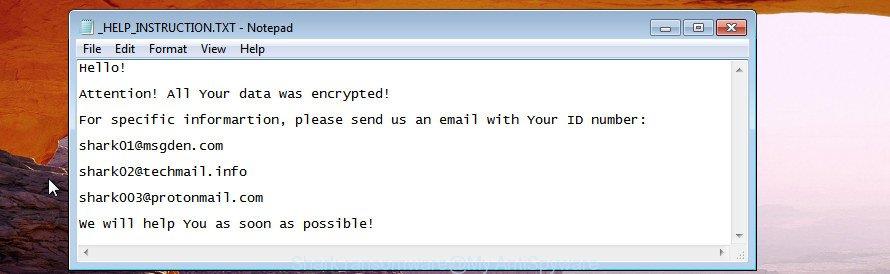 Shark ransomware
