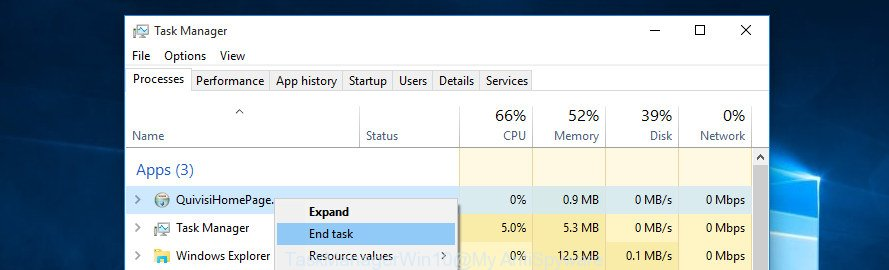 Task Manager MS Windows 10