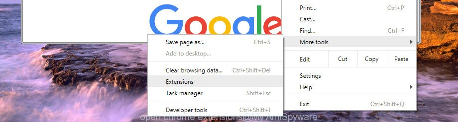 open chrome extensions manager