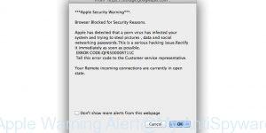 Apple Warning Alert