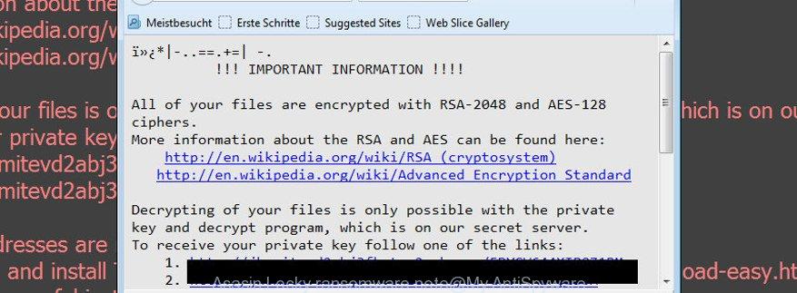 Asasin Locky ransomware note