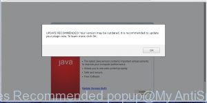 Updates Recommended popup