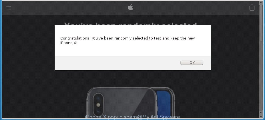 iPhone X popup scam