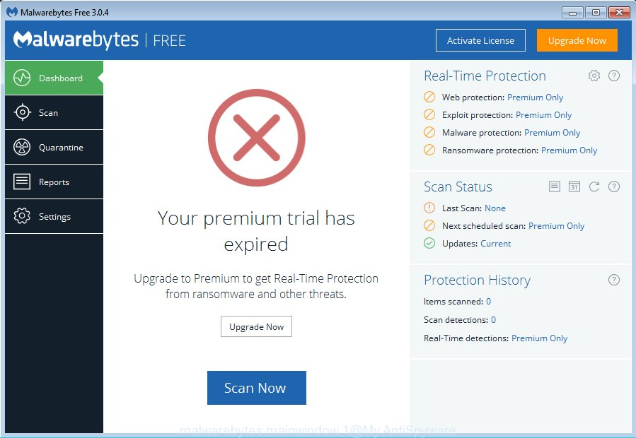 MalwareBytes Anti Malware (MBAM) for Microsoft Windows