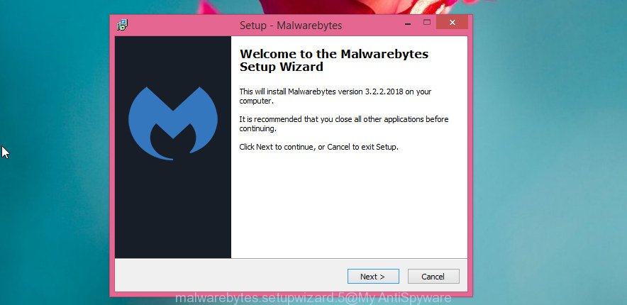 MalwareBytes Anti Malware for MS Windows set up wizard