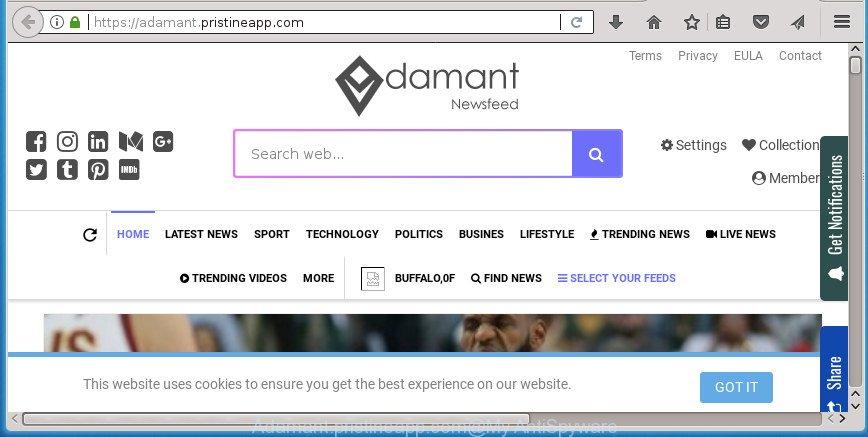 Adamant.pristineapp.com