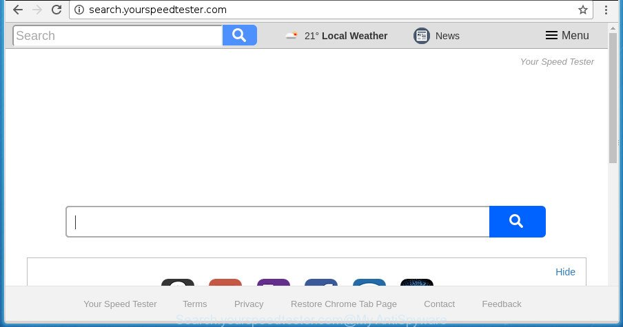 Search.yourspeedtester.com
