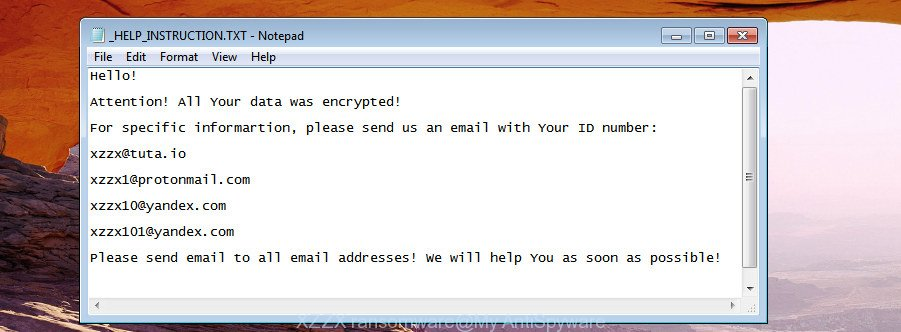 XZZX ransomware