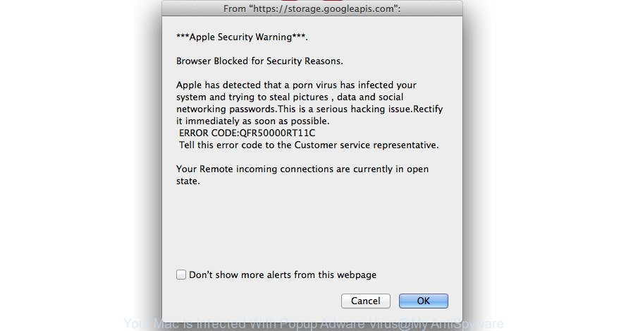 Your Mac Is Infected With Popup Adware Virus