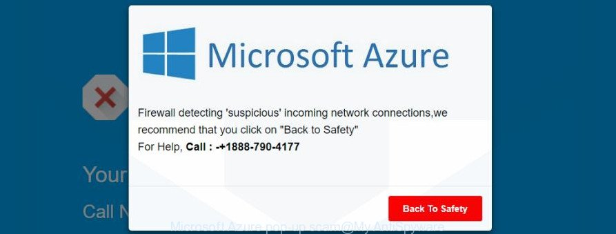 Microsoft Azure pop-up scam