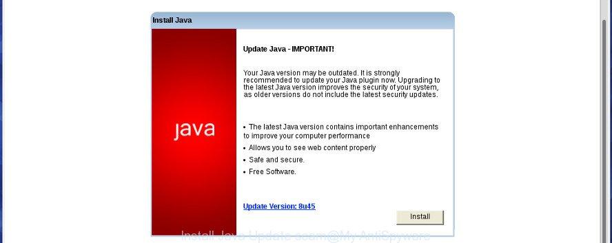 Install Java Update scam