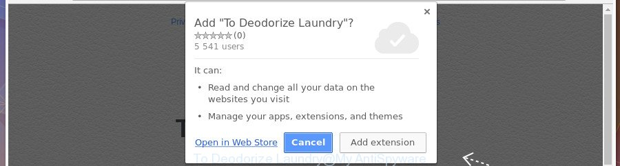 To Deodorize Laundry