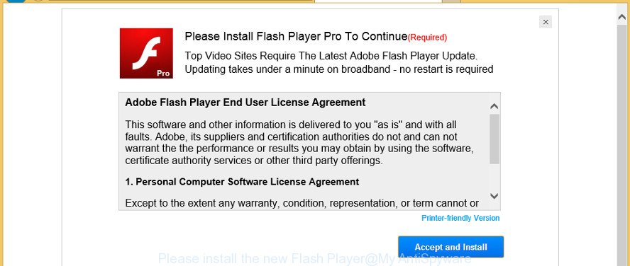 Please install the new Flash Player