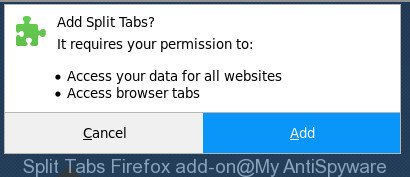 Split Tabs Firefox add-on