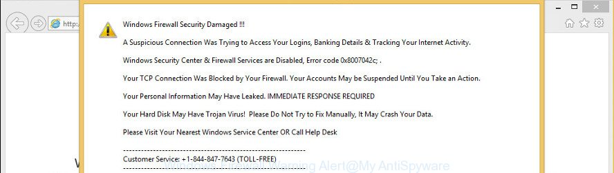 Windows Firewall Warning Alert