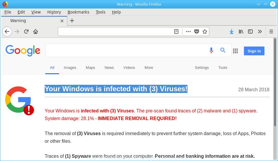 Your Windows is infected